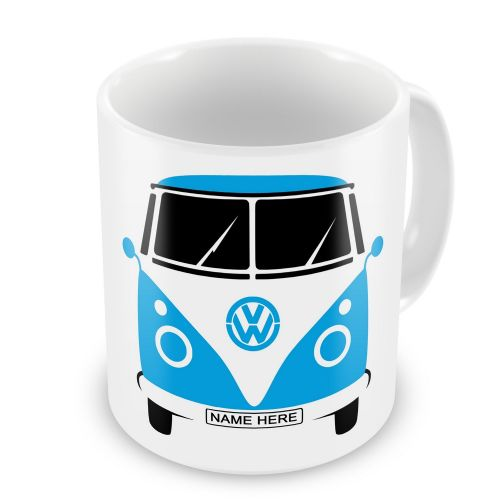 Personalised Campervan Blue, Green, Orange, Pink, Purple & Red Novelty Gift Mug